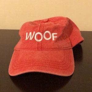 🍍EUC Woof baseball cap one size heathered red